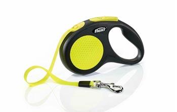 FLEXI New Neon Reflective Retractable 16 Tape Leash for big dog