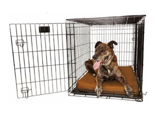 "Orthopedic 4"" Dog Crate Pad by Big Barker. Waterproof & Tear Resistant."