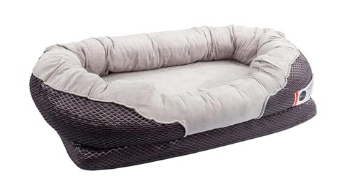 BarksBar Gray Orthopedic Dog Bed - Snuggly Sleeper -