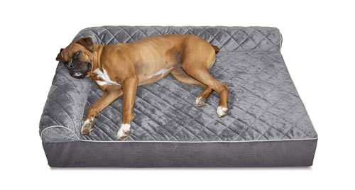 FURHAVEN L-Shaped Bed - Orthopedic Bolster Dog Bed