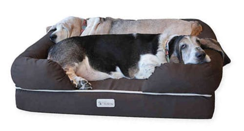 PETFUSION Ultimate Bed - Best Memory Foam Bolster Dog Bed