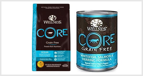 Wellness core dog food to prevent dog stain