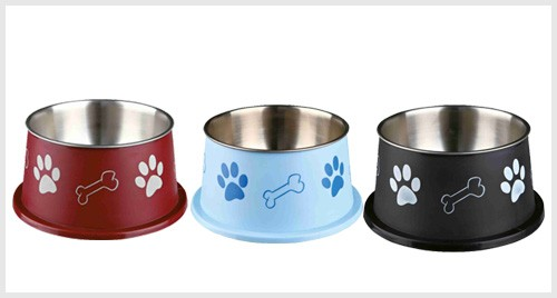 Trixie Long-ear Bowl, Stainless Steel, Plastic Coated,