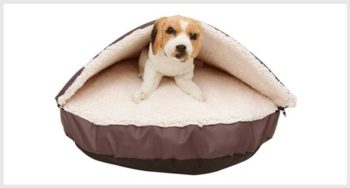 long rich snuggle bed for burrowing dog