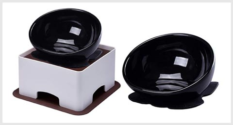 YMAXGO Elevated Tilted Dog Bowls